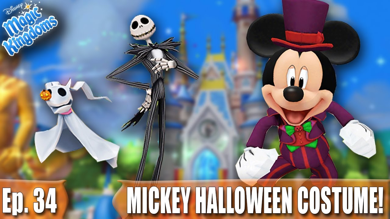 WELCOMING ZERO + MICKEYu0027S HALLOWEEN COSTUME AND QUESTS! - Disney Magic Kingdoms Gameplay - Ep. 34 - YouTube  sc 1 st  YouTube : zero halloween costume  - Germanpascual.Com