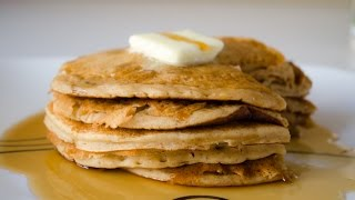 Healthy Breakfast Fluffy Whole Wheat Pancakes