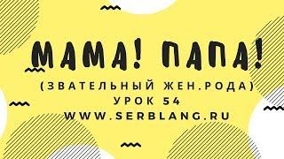 Сербский язык. Урок 54. Звательный женского рода
