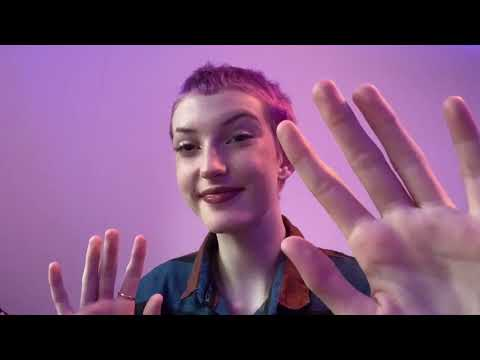slow hand movements and occasional mouth sounds ASMR rain sounds NO TALKING