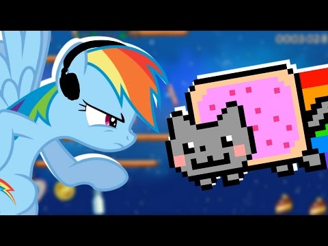 Rainbow Dash plays Nyan Cat: Lost in Space 🍉 | RainNO.