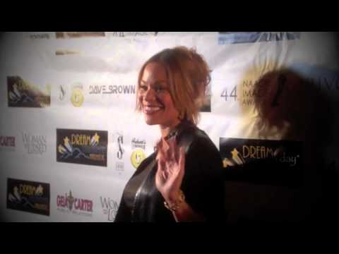 Jaqueline Fleming on the red carpet in L.A. Jan. 26, 2013