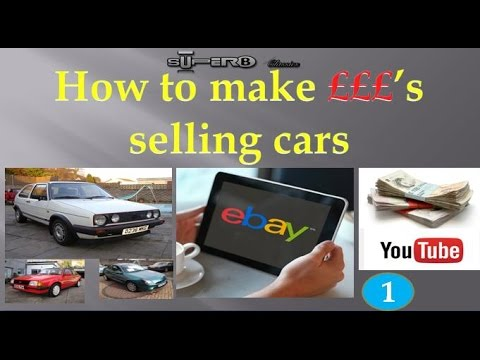 How To Make Money Buying And Selling Cars On Ebay Project Part 1 Youtube
