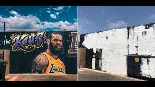 (LIVE) BREAKING NEWS! LEBRON JAMES MURAL IN L.A. COMPLETELY DESTROYED! (REACTION)