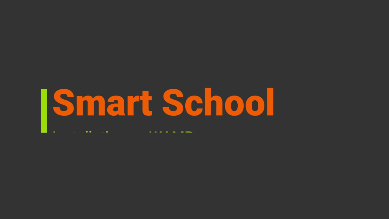 Cài đặt hệ thống quản lý trường học thông minh ở Wamp. Installation on WAMP - Smart School