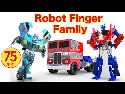 Car Videos | Transformers Robot Toys Family | Nursery Rhymes Compilation from Jugnu Kids