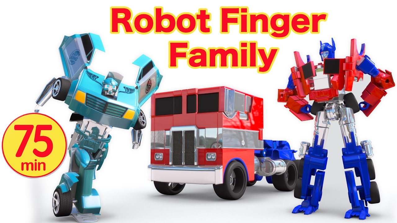 Car Videos Transformers Robot Toys Family Nursery Rhymes