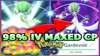 connectYoutube - POKEMON GO 98% IV GEN 3 GARDEVOIR MAXING OUT CP ALL THE WAY | GARDEVOIR GYM BATTLES