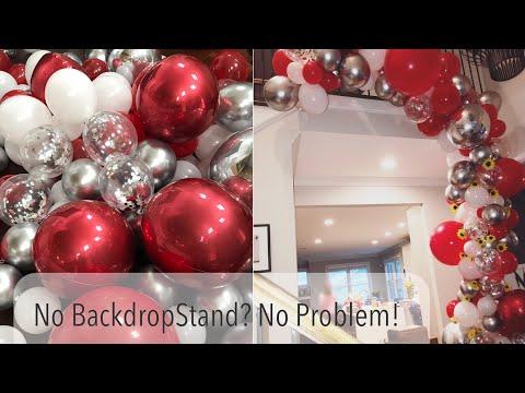 DIY Organic Balloon Arch Backdrop Tutorial | Baby Shark Party Decor