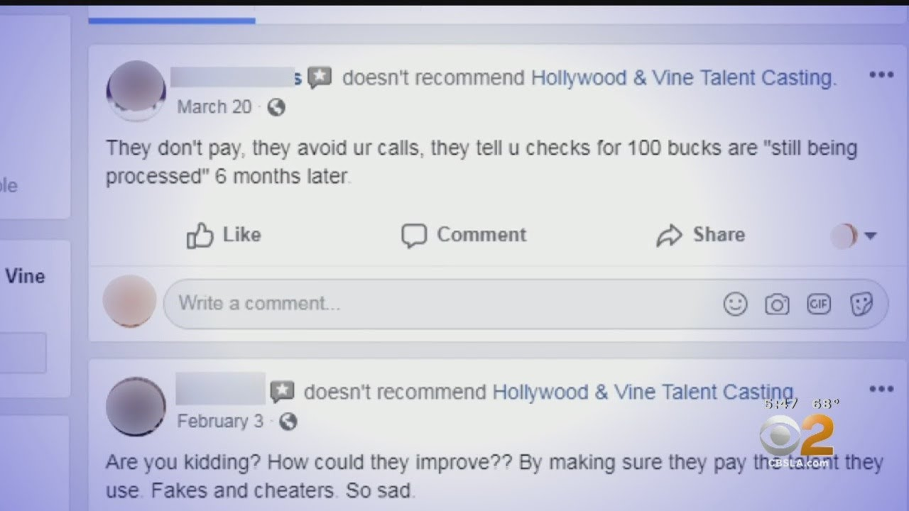 2 On Your Side: Hollywood Talent Agency Not Paying Its Actors