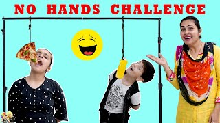 NO HANDS EATING CHALLENGE #FamilyComedy #Funny Aayu and Pihu Show