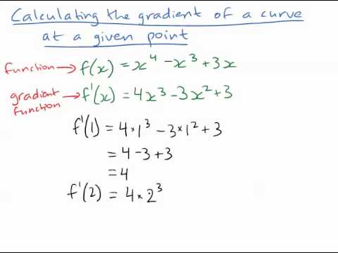 how to find the gradient of a curve
