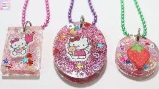 DIY Resin Charm / Hello Kitty Resin Pendant / Resin Tutorial