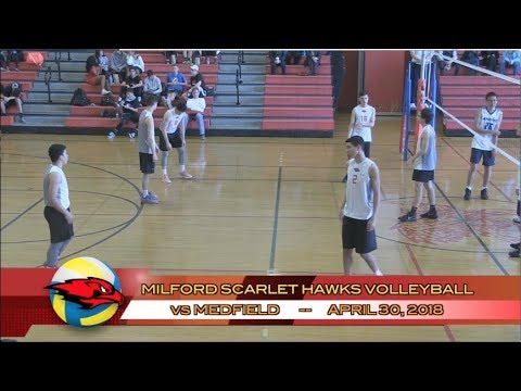 Milford Scarlet Hawks Volleyball - April 30, 2018 vs Medfield