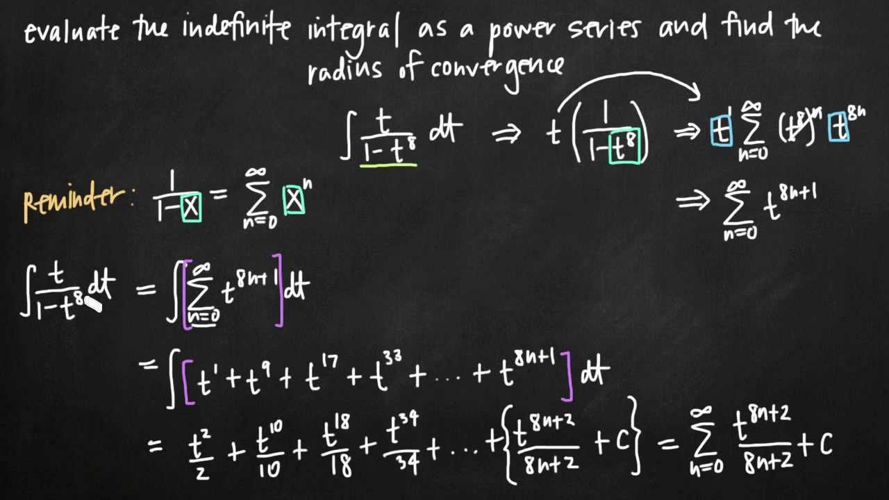 Expressing the integral as a power series (KristaKingMath)
