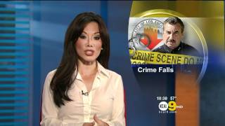 Sharon Tay 2012/01/05 10PM KCAL9 HD; White top, pokies