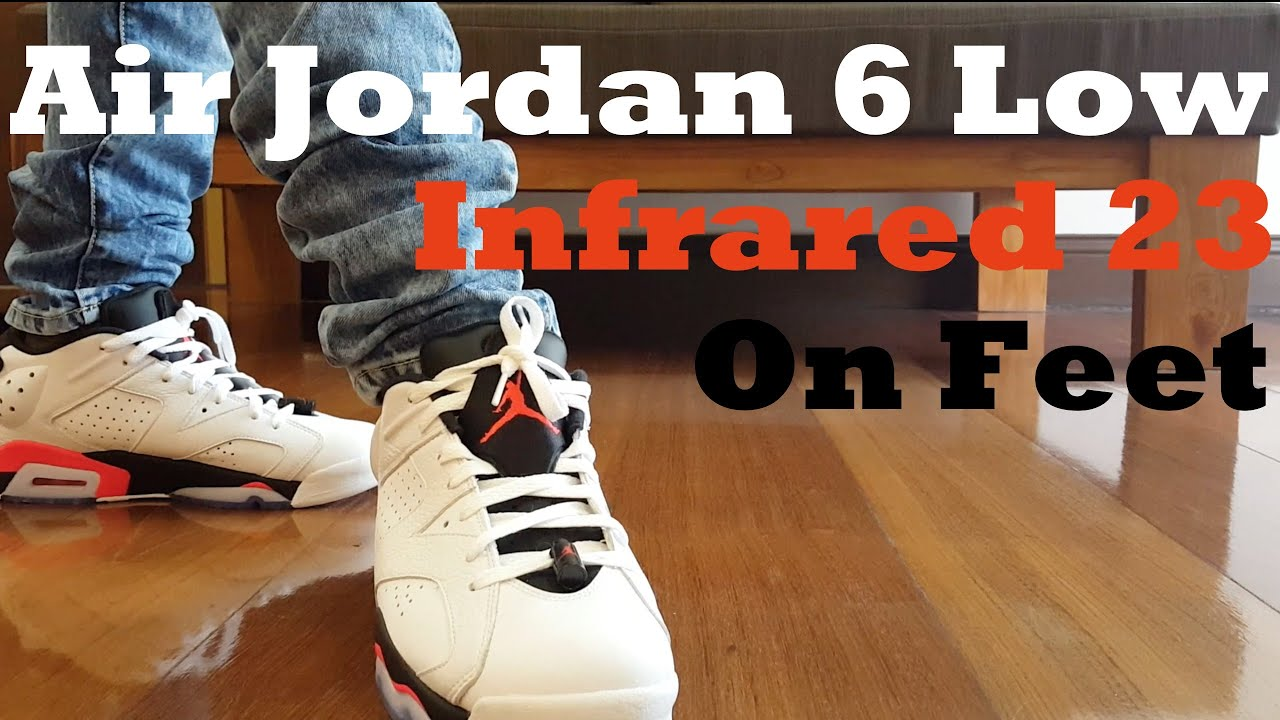 innovative design 57457 6de97 Air Jordan 6 Low 'Infrared 23' On Feet