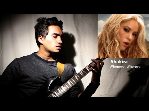 Shakira - Whenever Wherever Fingerstyle Guitar Cover by Nishant Acharya