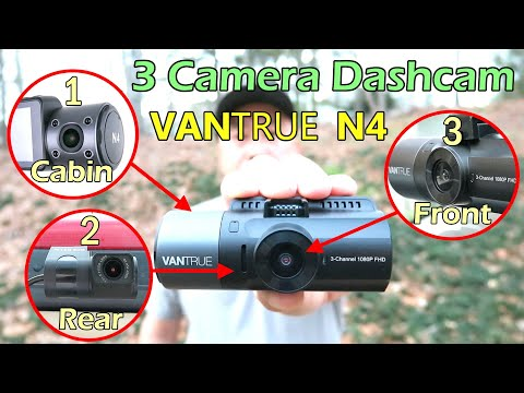 BEST 3 Channel Camera Dashcam (Front + Rear + Cabin) VANTRUE N4