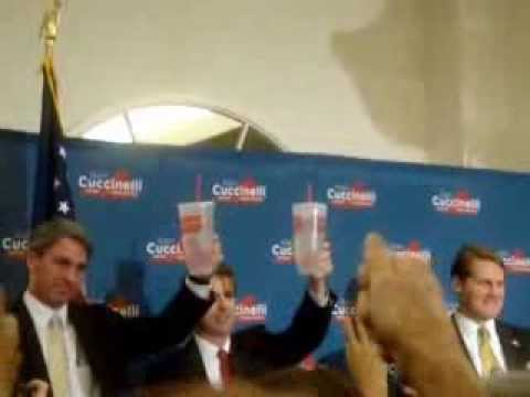Ken Cuccinelli and Rand Paul drinking double sized Big Gulps