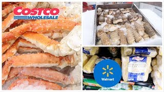 SHOPPING FOR SEAFOOD AT COSTCO & WALMART