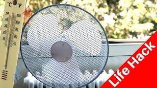 Wohnung/Zimmer Temperatur runterkühlen/senken 🌡️mit selbstgemachte Klimaanlage Life Hack gegen Hitze