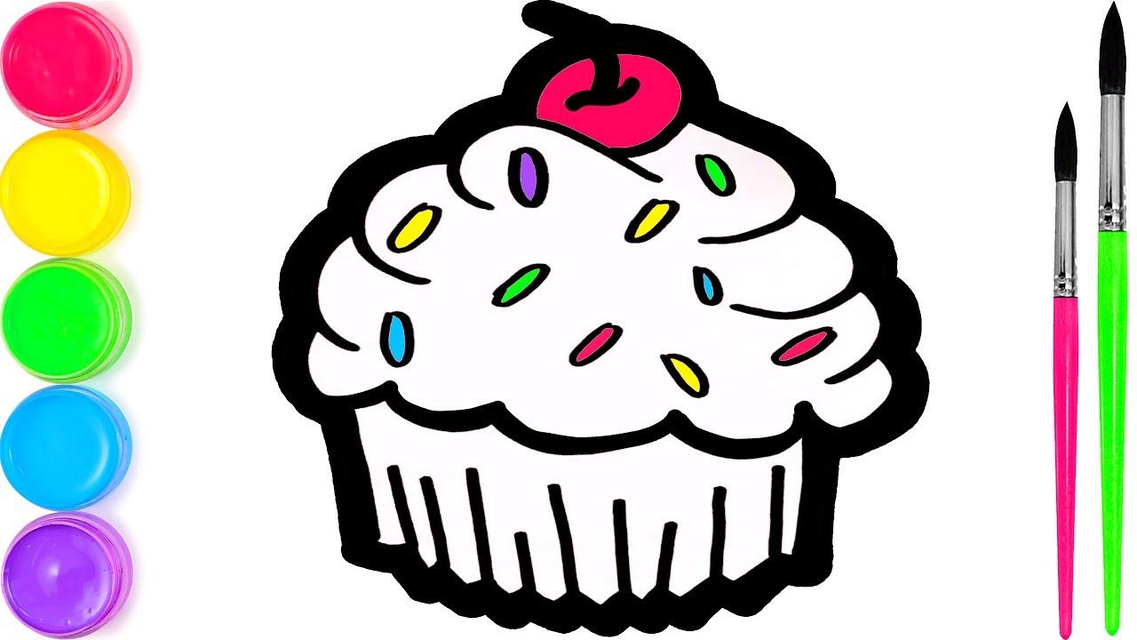 Hazel Cup Cake Menggambar Dan Mewarnai Untuk Anak Anak