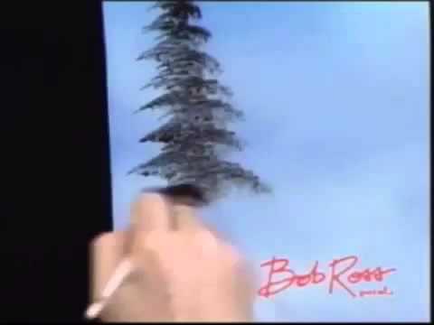 Bob Ross Malerei Ein Immergrüner Baum Malerei Video Youtube