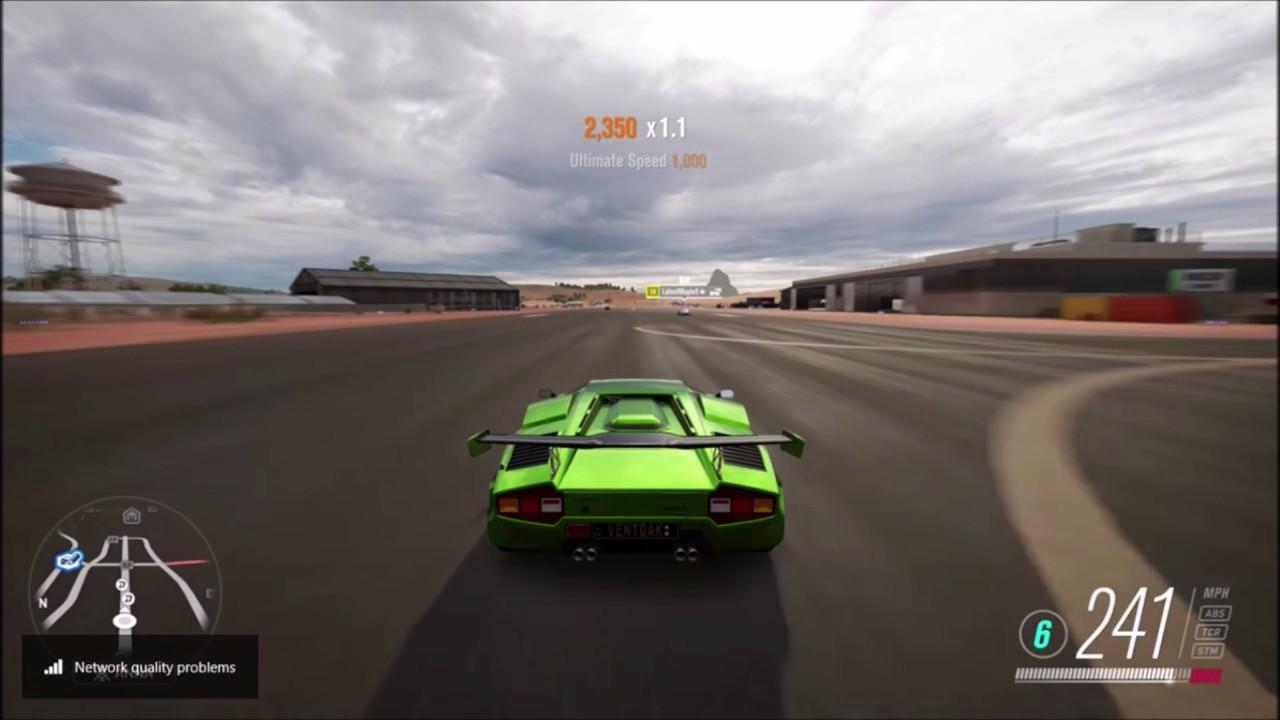 Lamborghini Countach Top Speed Test Youtube