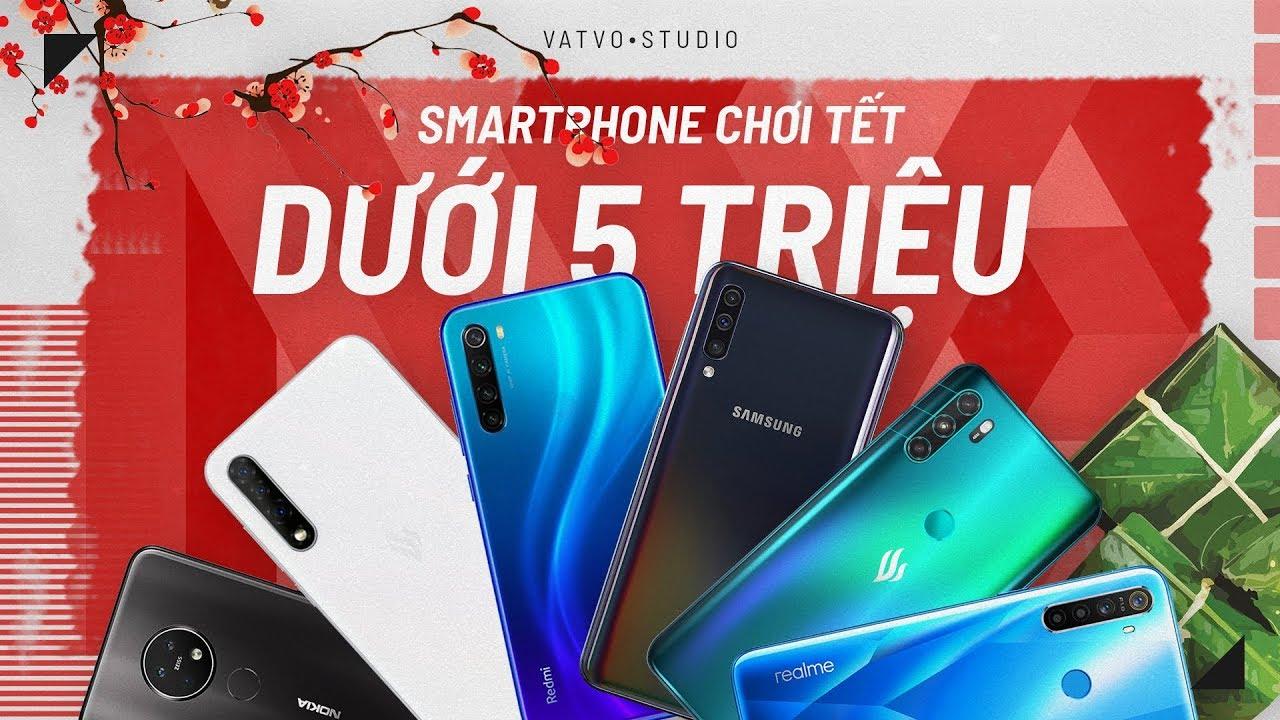 TOP 10 smartphone DƯỚI 5 TRIỆU nên mua Tháng 1/2020