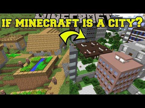 Minecraft: IF MINECRAFT WAS A CITY?!? - Mod Showcase