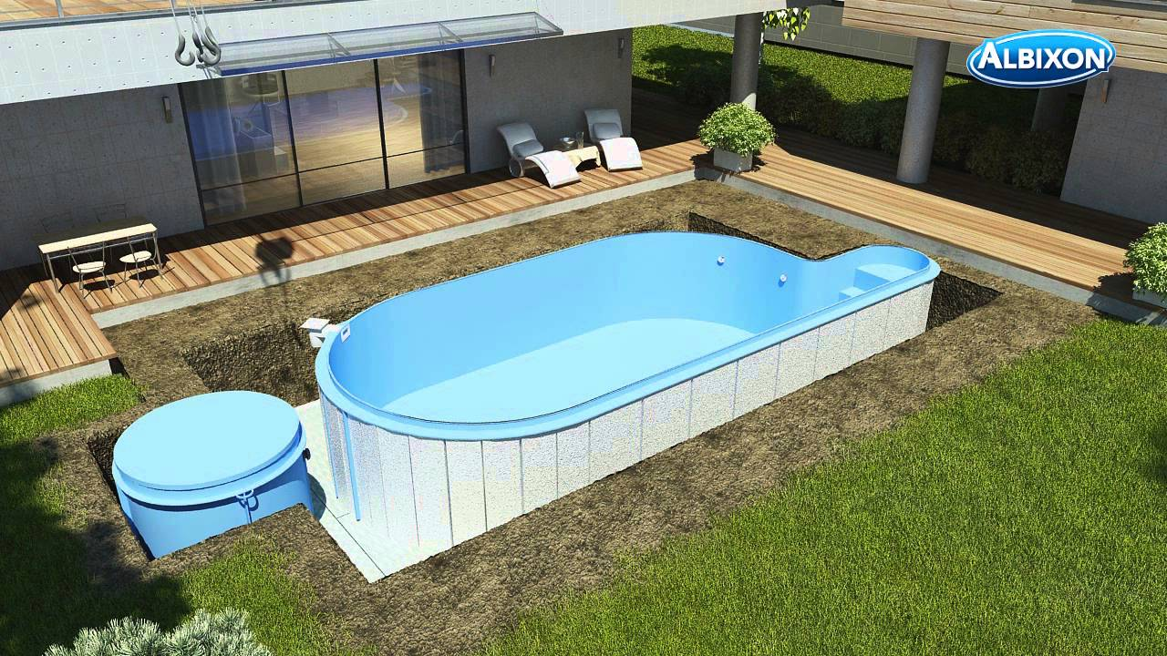 pool aufbau youtube. Black Bedroom Furniture Sets. Home Design Ideas