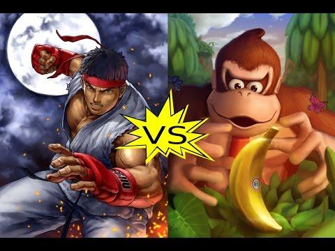 MUGEN |\/| Ryu (me) VS Donkey Kong