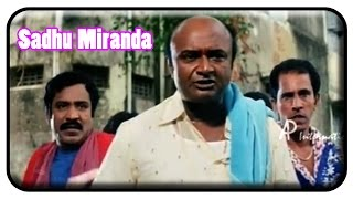 Sadhu Miranda Tamil Movie - Karunas is chased by M.S.Baskar | M.S.Baskar Comedy |