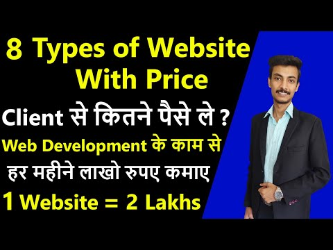 Different types of websites with price, How much do websites cost in 2021, Cost of website design