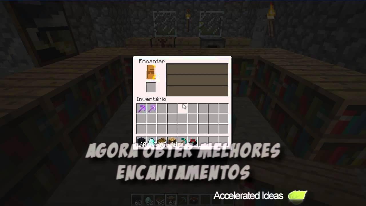 Minecraft  Como fazer mesa de encantamento  YouTube -> Como Fazer Banheiro Moderno No Minecraft