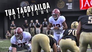 Watch Tua Tagovailoa's incredible scrambling TD play to DeVonta Smith