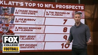 Joel Klatt's top ten NFL Prospects of 2020 | CFB ON FOX