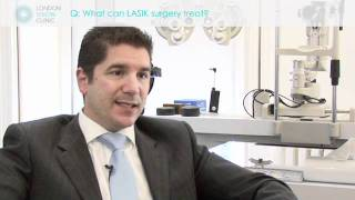 What can LASIK surgery treat?