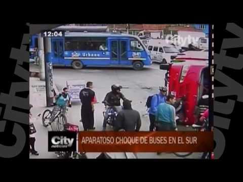 Aparatoso choque de buses en el Sur| City TV | Septiembre 22
