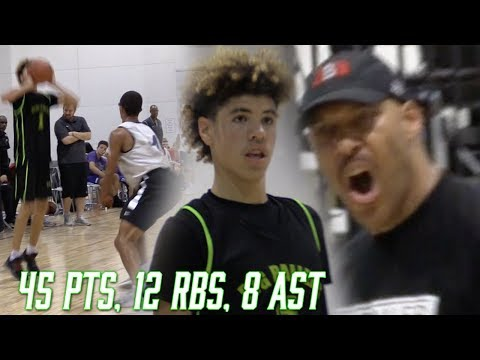 Lavar Ball LEAVES MID GAME & Lamelo DROPS 45! Big Ballers Vs College Bound!