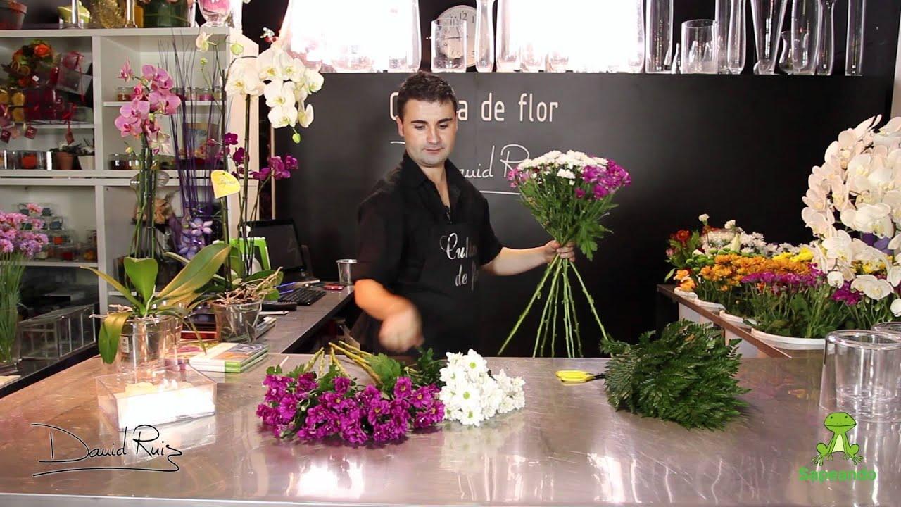 C mo hacer un ramo de flores en espiral youtube - Como hacer un ramo de flores artificiales ...
