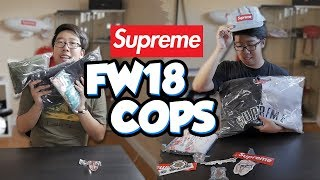 SUPREME FW18 UNBOXING!!! THREE PACKAGES!?!
