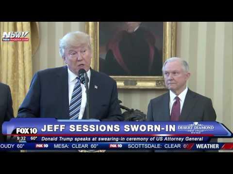 HISTORIC: Jeff Sessions Sworn In as U.S. Attorney General, Trump Speaks Beforehand