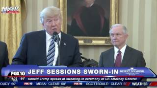 HISTORIC: Jeff Sessions Sworn In as U.S. Attorney General, Trump Speaks Beforehand (FNN)