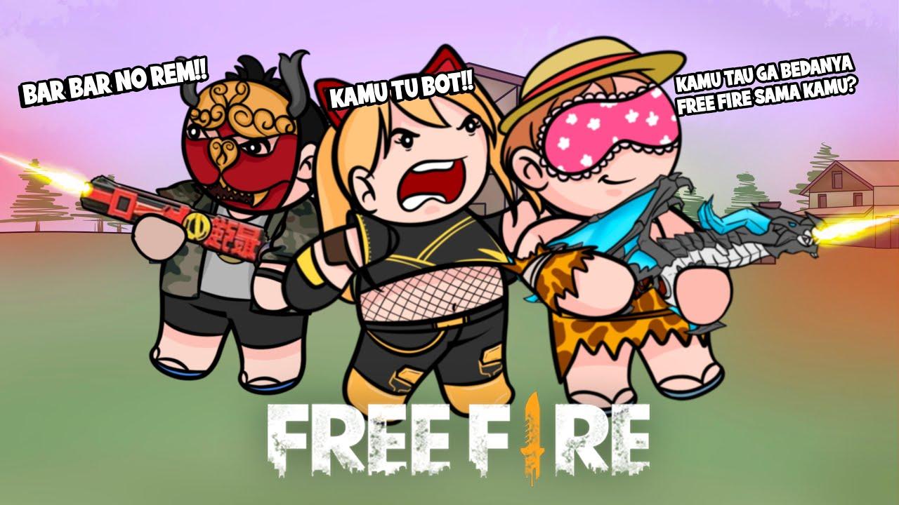 ANIMATION FREE FIRE - RATAIN SATU SERVER BARENG GURU FRONTAL MALAH KETEMU CEWE SONGONG - ANIMASI FF