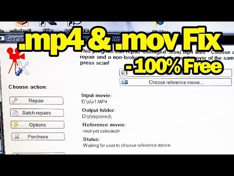 Fix Broken or Corrupt.mp4.mov Videos Files