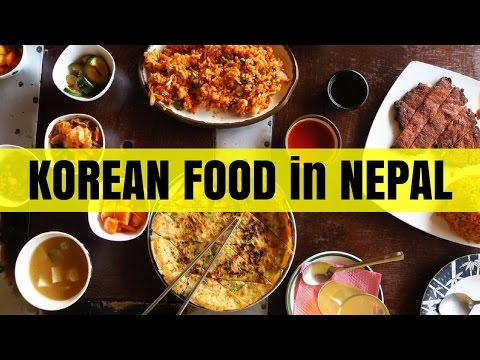 Korean Food in Nepal at a Korean Restaurant in Pokhara
