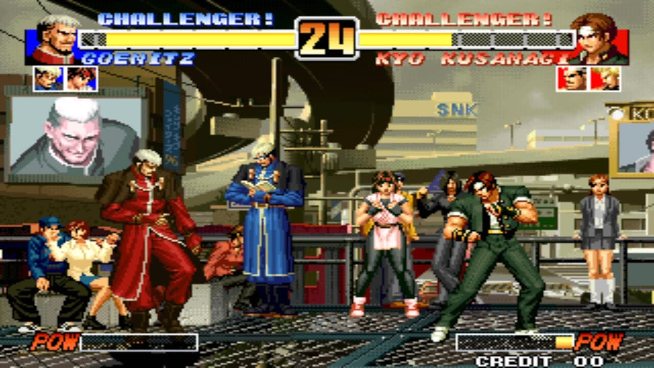 King Of Fighters 96 Arcade Play As Goenitz Youtube