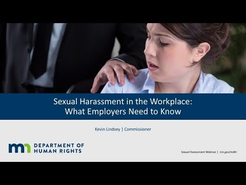 MnDHR: Sexual Harassment in the Workplace - What Employers Need to Know | Webinar
